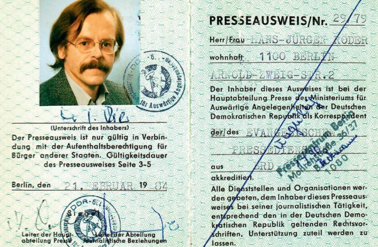 Hans-Jürgen Röder: Een stem uit het Oosten
