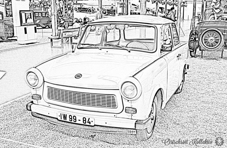 Kleurplaten van DDR-voertuigen